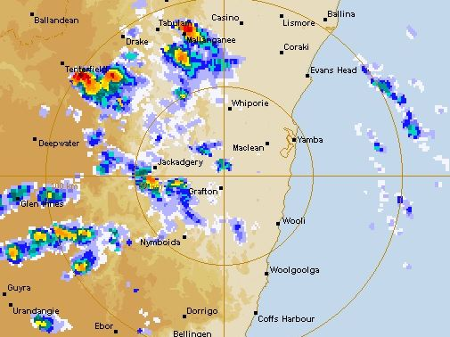 Storms heading over the Northern Rivers