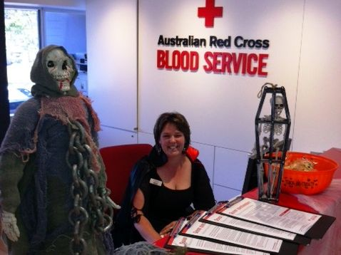 Staff at the Lismore Blood Donor Centre will be getting into the Halloween spirit this Saturday. Photo Contributed