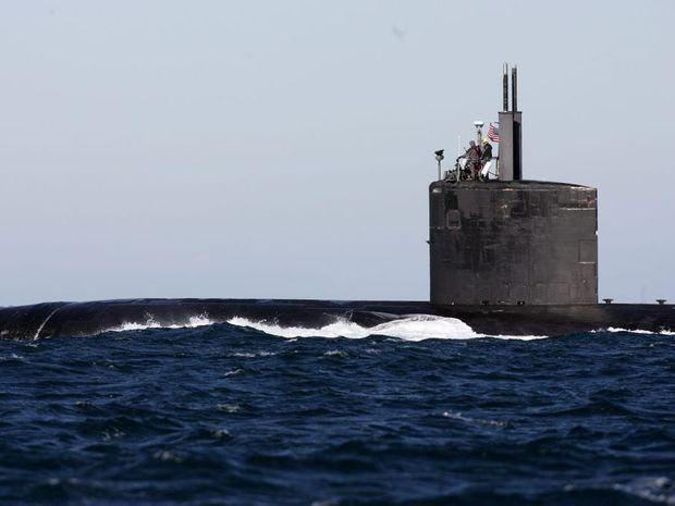A US submarine off Gladstone