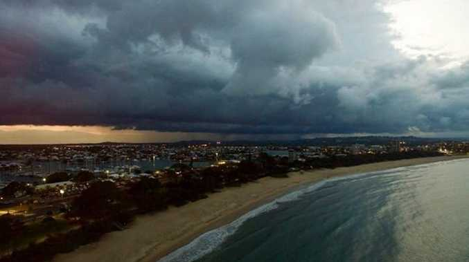 Sunshine Coast Aerials. Aerial shot of tonight's storm - taken from over Mooloolaba!