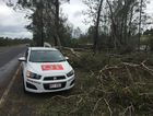 Extensive damage in Fernvale following severe storms yesterday. Photo Francis Witsenhuysen / Gatton Star