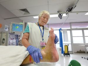 Volunteer named for great work with patients and their feet