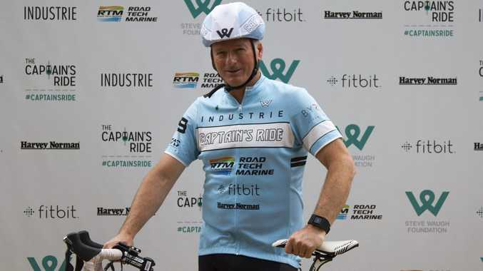 Cricket legend Steve Waugh prepares to cycle from Sydney to Byron Bay as part of the Steve Waugh Foundation's Captain's Ride to raise money and awareness about rare diseases. Photo Contributed