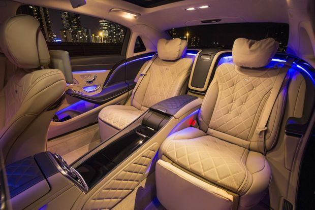 FIRST CLASS: Maybach S 600 has a wheelbase 200mm longer than an S-Class, giving rear occupants even more room to conduct business, drink champagne and feel important