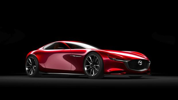 ROTARY TEASER: RX-Vision features a next-generation rotary engine. Doesn't look too bad, either.