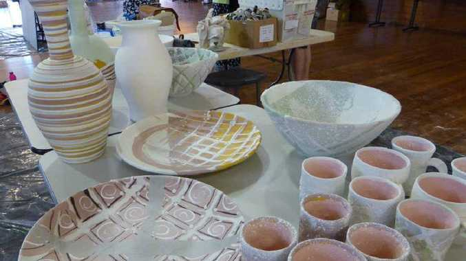 FINE WORK: A collection of glazed pottery by Isaac Pattmore.