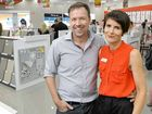 ANOTHER NEW BUSINESS: Peter and Stephanie Aylward opened their new Beaumont Tiles outlet in Ipswich on the weekend.