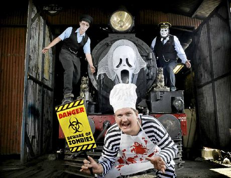 SPOOKY TRIP: Patrick Hughes, Robert Shearer and Mark Cee will be taking part in this year's Halloween Train.