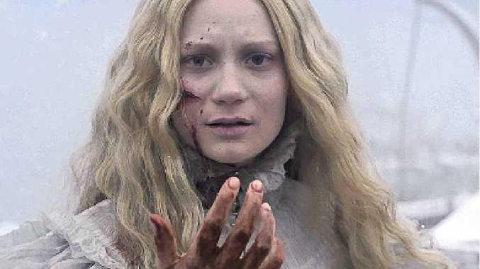 Mia Wasikowska in a scene from the movie Crimson Peak.