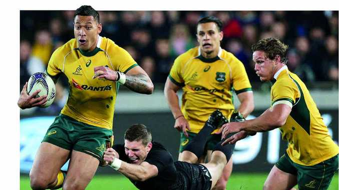 KEY PLAYER: Australia's Israel Folau looms as one of Australia's danger men for the World Cup final against New Zealand at Twickenham on Sunday.