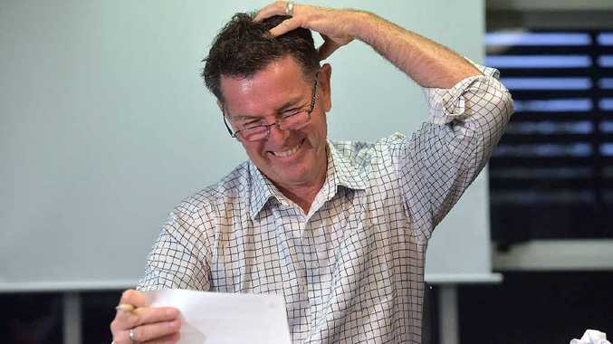 CAN'T COUNT: Damian Bathersby from the Sunshine Coast Daily does his best to understand Year 6/7 maths.