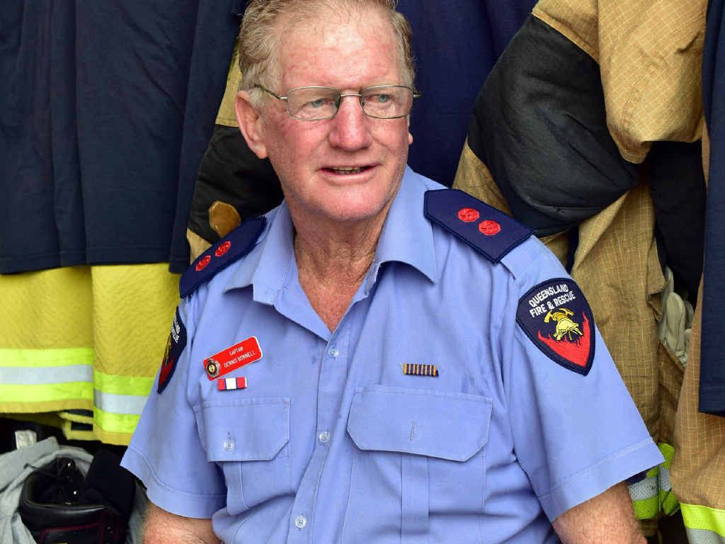 TIME OUT: Cooroy Auxiliary firefighter Dennis Bonnell is retiring after 41-and-a-half years.