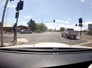 Red light runner in Toowoomba