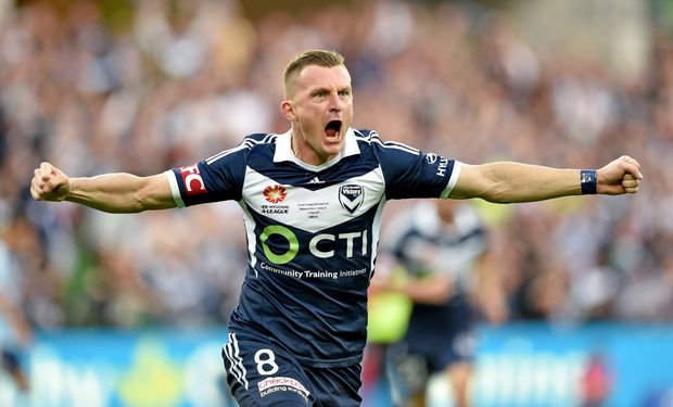 On target ... Melbourne Victory striker Besart Berisha. Photo: AAP Images