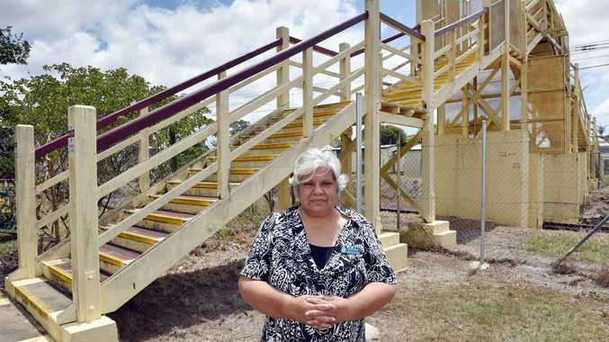 The one hundred year old Howard footbridge will be closed and demolished as of the 31 October. Barbara Trevaskis recalls using the bridge to get to school in the '60s and still uses it to get to the shops and QCWA meetings. Photo: Valerie Horton / Fraser Coast Chronicle