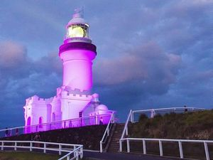 Pink lighthouse shines way in fight against breast cancer