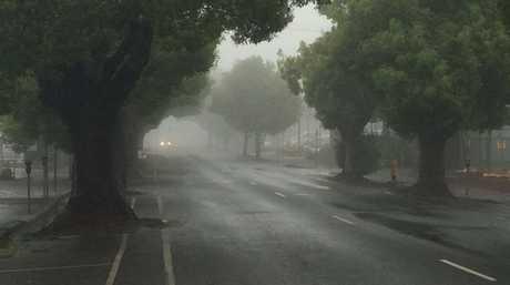 Neil St on a foggy Toowoomba morning.