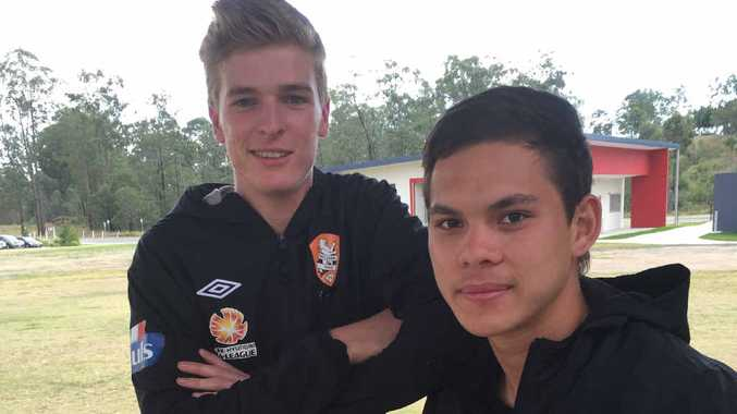 ROARING TIME: USQ Sport and Exercise students Mark Pearson and Sam Murray.