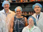 DONATION: Saxson Atkinson, Paul Lowe, Barb Madden, Tayna Evans and Brett Mcleod at the Kingaroy Kitchen.