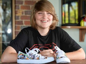 Young anime artist falls on crafty success with shoes