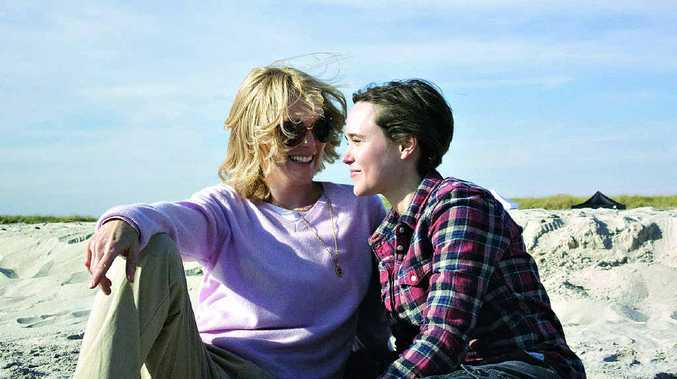Julianne Moore and Ellen Page in a scene from Freeheld.