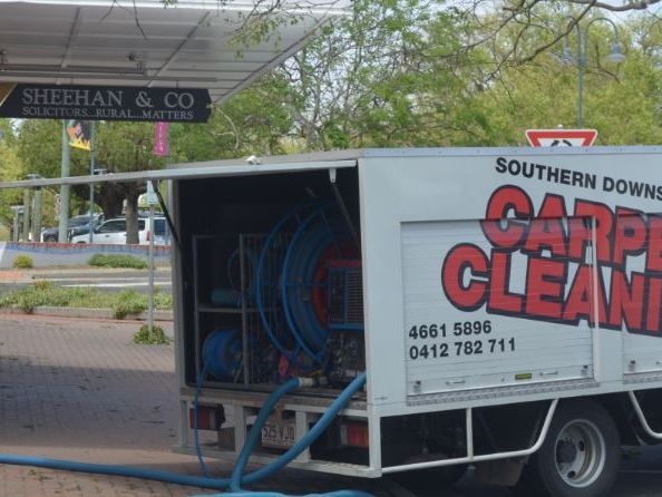 Sheehan and Co is one of many businesses in Chinchilla now in clean-up mode after yesterday's storm.