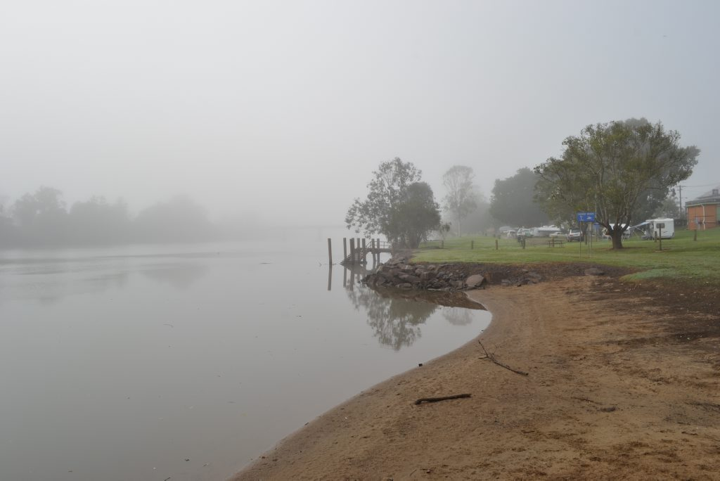 UPGRADING FORESHORE: The fog will be lifting from the Coraki riverfront as Richmond Valley have put aside $60,000 for it's upgrade. Photo Samantha Elley / Richmond River Express