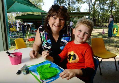 C&K; Camira Community Kindergarten held a Grandparents day at the centre. Margaret Knight of Camira with her grandson Jasper Dangen, 4. Photo: David Nielsen / The Queensland Times