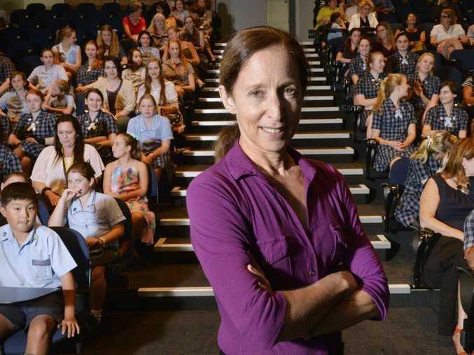 Ex NASA astronaut Marsha Ivins visited students at Ipswich Girls Grammar. Photo Inga Williams / The Queensland Times