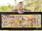 Ball-point pen artist Shayne Hawks. Photo Inga Williams / The Queensland Times
