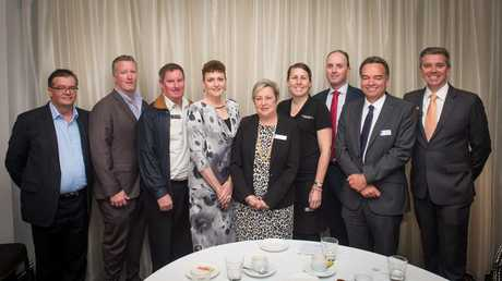 Newly elected Toowoomba Chamber of Commerce Board Directors (from left to right) are Gary Love, Dan Dwan, Don Frost, Denise Quinn, Joy Mingay, Tammy Wilson, David Coote, Carl Rallings and Julian Lancaster-Smith. (Absent: Trevor Schwenke and Mark Cecil.)