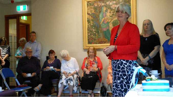 MILESTONE: Rockhampton Regional Council Mayor Margaret Strelow addresses the 20-year celebrations.