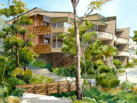 An artist's impression of the resort's apartment building.