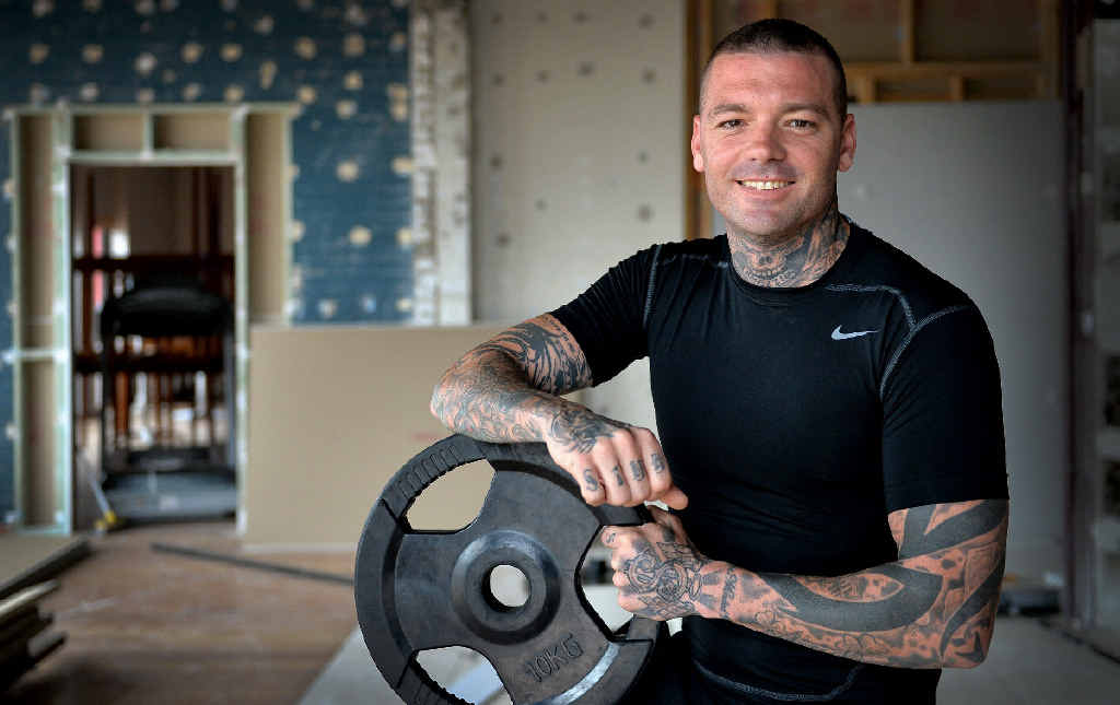TURN AROUND: After doing time in jail, Shane Lazarus is determined to make a success of himself in fitness training and will soon open his own gym in Caloundra.