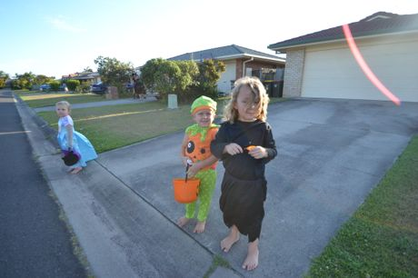Some of the cuter costumes of the trick-or-treaters on the streets of Evans Head.