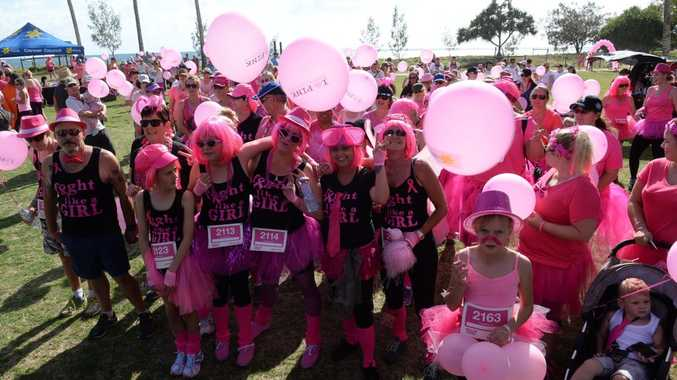 I'M WALKING FOR: The start of the Walk for Women's Cancers at Nielson Park Bargara. Photo: Mike Knott / NewsMail