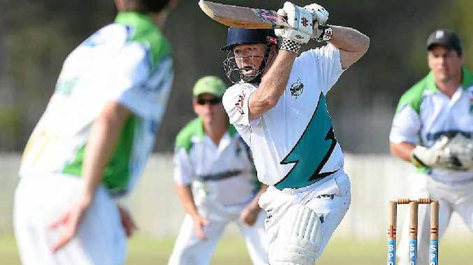 QUALITY KNOCK: Bay Power's Daniel Poacher scored a sensational 66 in Bay Power's chase but his side ultimately fell 11 runs short.
