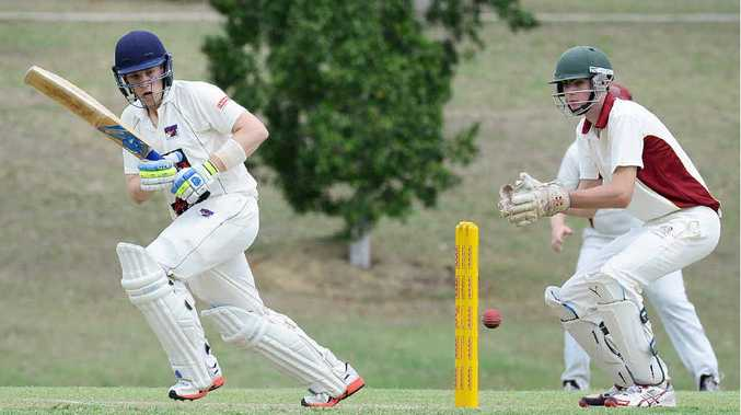 MULTI SKILLED: Laidley all-rounder Alex Welsh shows his class on his way to 25 batting against Central Districts.
