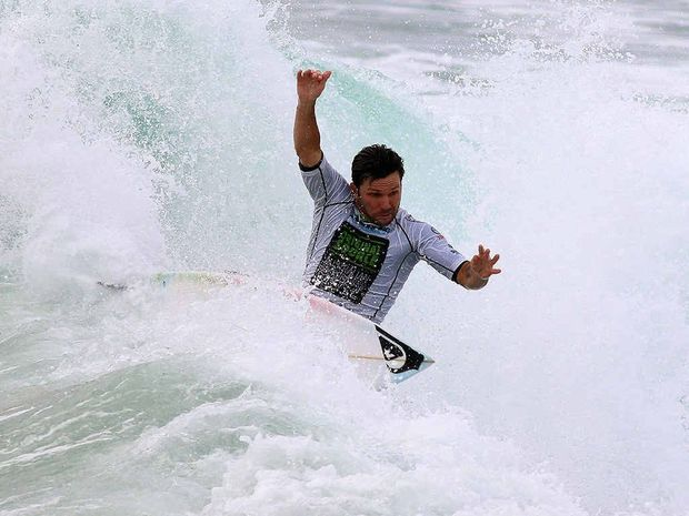 Danny Wills making the difference for Byron Bay at Yamba at the weekend in the club's successful bid to reach the national final of the Australian Boardriders Battle.