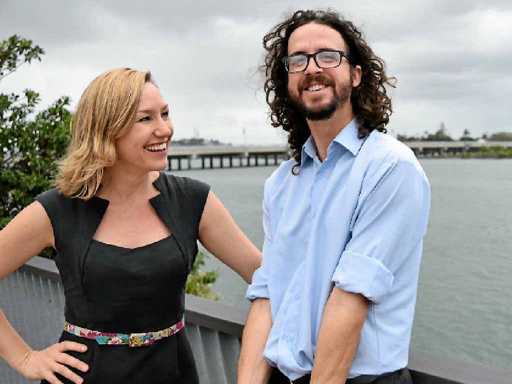 FUTURE FOCUS: Australian Greens Deputy Leader Larissa Waters was in Mackay yesterday to endorse Greens Candidate for Dawson Jonathon Dykyj.