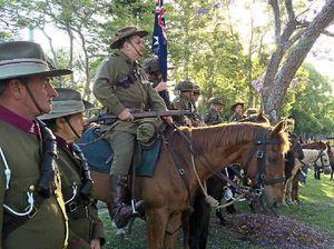 A Woombye salute befitting the Light Horsemen