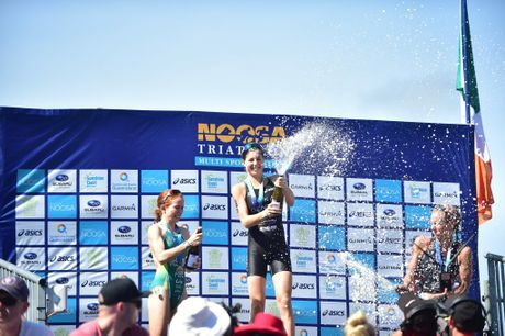 Noosa Triathlon. Ashleigh Gentle Robina (QLD) finished first in the elite womens. Photo: Che Chapman / Sunshine Coast Daily