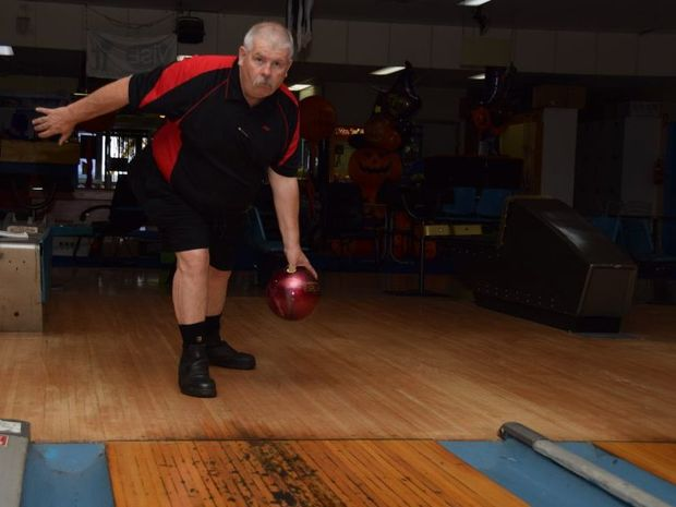 STRIKE FORCE: Philip Smith finished sixth in the male category in the Restricted Challenge tenpine bowling tournament.Photo Keagan Elder / South Burnett Times