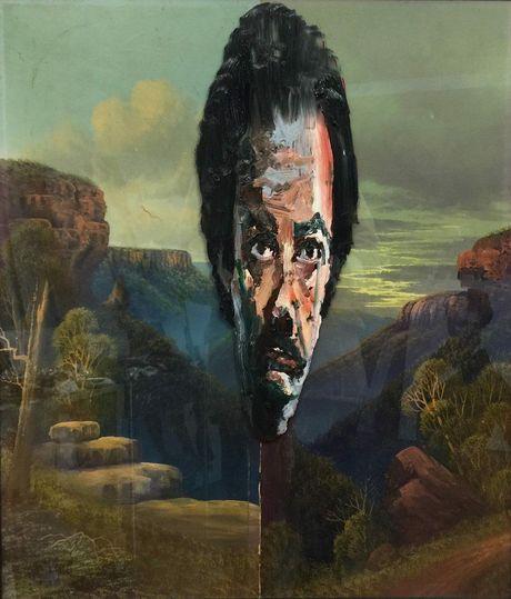 Wollongong artist Paul Ryan's portrait 'blue mountains noah'. Photo Contributed