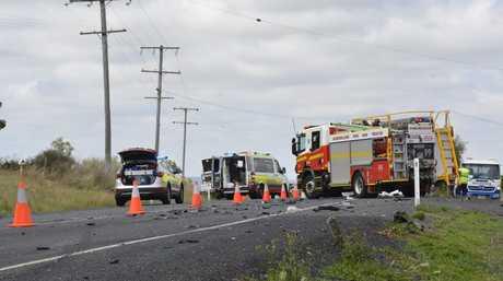 The crash scene at Finnie.