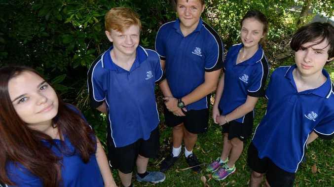 CQ FUTURE: Yeppoon High School students (from left) Breanna Tyrell (16), Zachary Tregenza (17), Karl English (16), Kayla Wellspring (16), and Ethan Munnerley (16).
