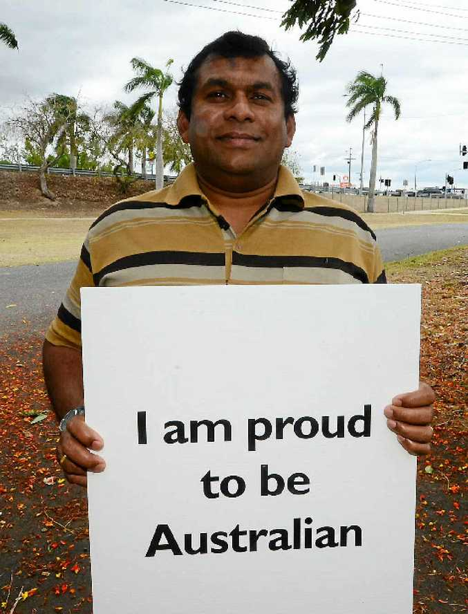 NEW LIFE: Punya Atukorale moved to Rockhampton in 2009 after retiring from the navy in Sri Lanka. He currently works for Ergon Energy.
