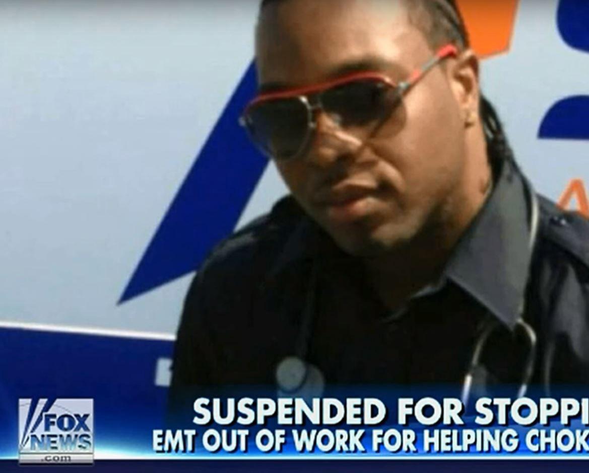 Qwasie Reid, an EMT (Emergency Medical Technician) in New York City.