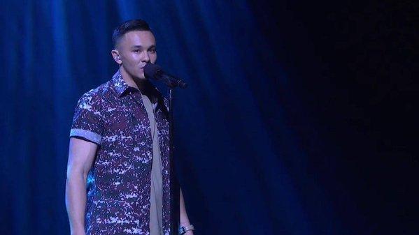 Cyrus Villanueva performs on The X Factor.