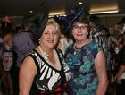 L-R Michelle Landry and Celestine Kenny at the Caulfield Cup. Photo Liam Fahey / Morning Bulletin